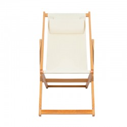 CHILIENNE PLIANTE INCLINABLE EN BOIS DE PEUPLIER CHILI BEIGE PULLMAN